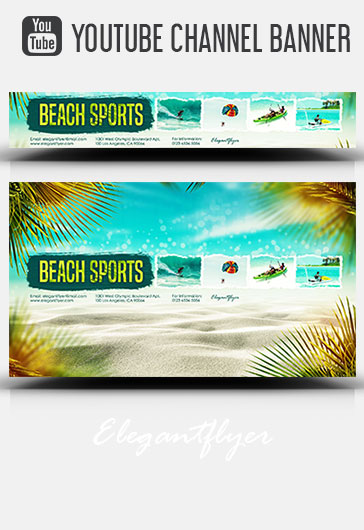 Free Youtube Channel banner templates in PSD (2560 x 1140