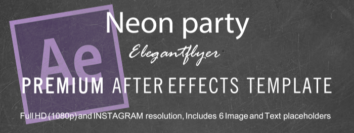 Neon party After Effects Template