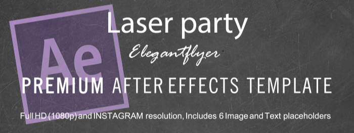 Laser party After Effects Template