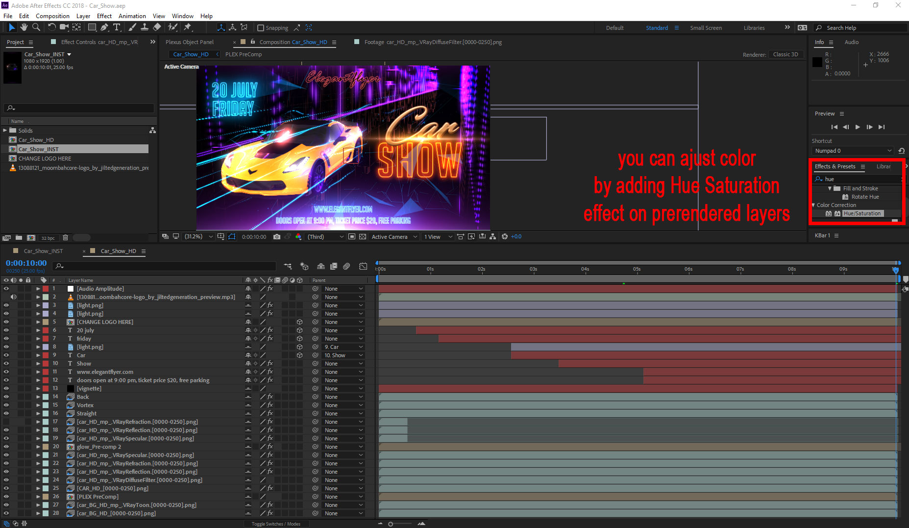 Car Show After Effects Template
