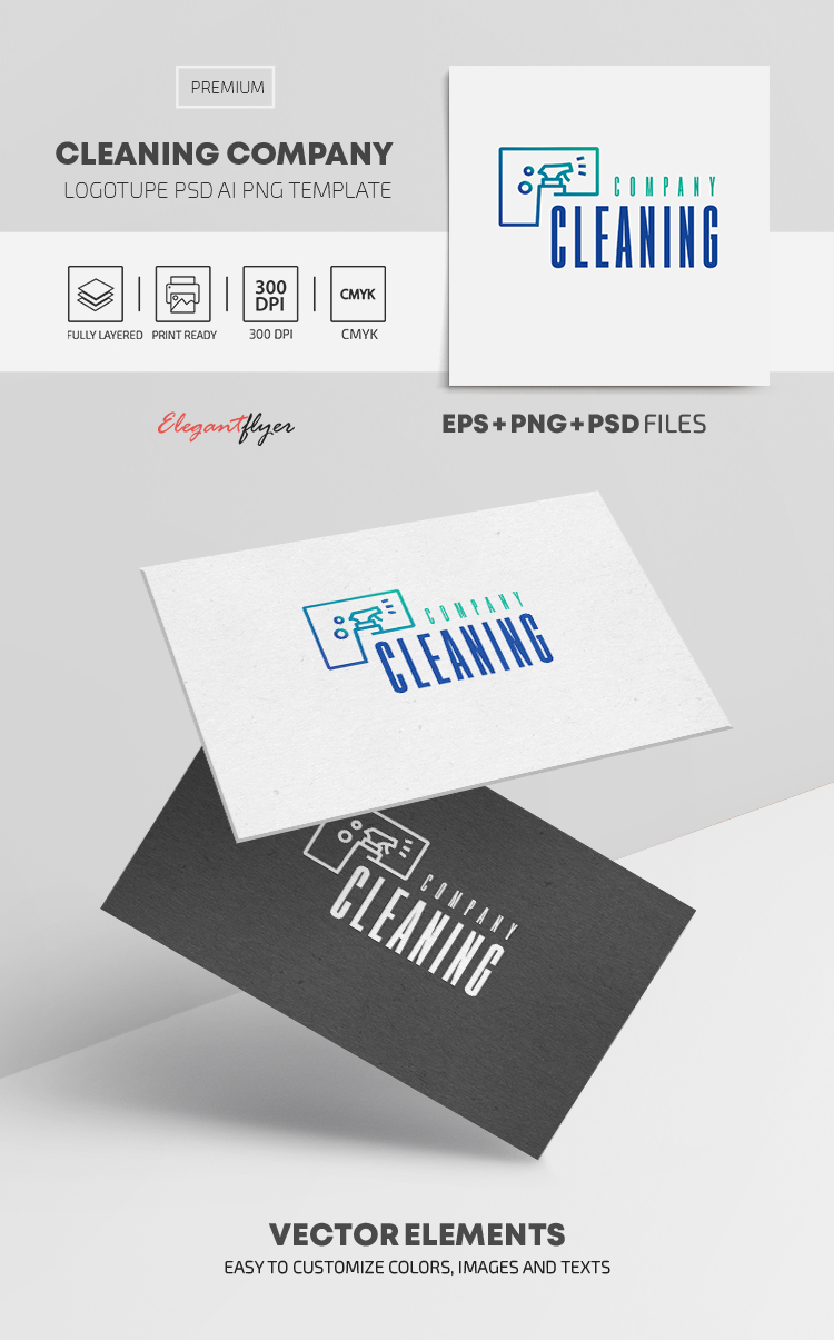 Cleaning Company – Premium Logo Template