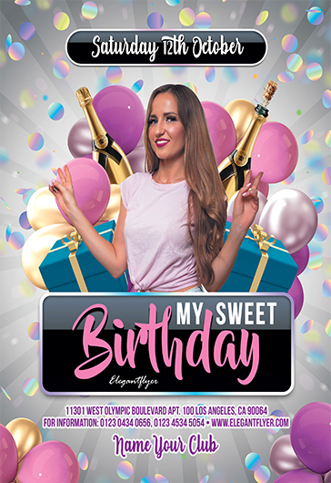 Free Birthday Flyer Templates in PSD | by ElegantFlyer