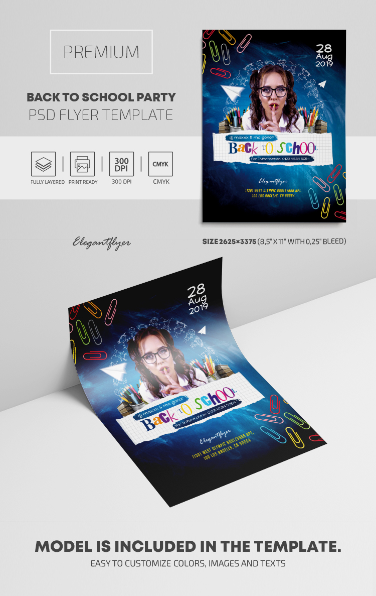 Back To School Party – PSD Flyer Template
