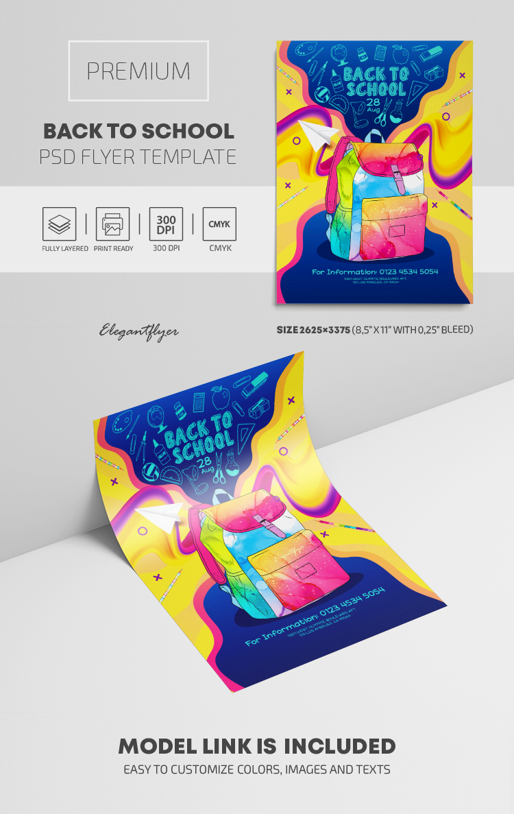 Back to School – Premium PSD Flyer Template