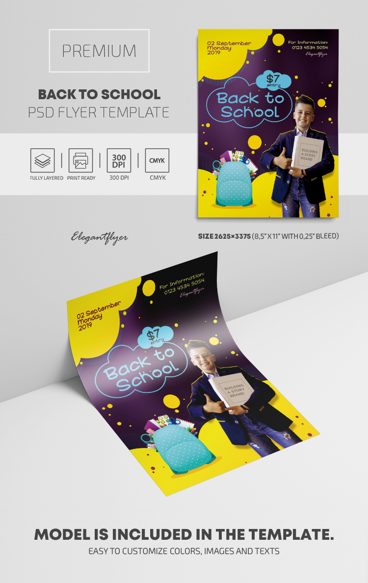 Back to School – PSD Flyer Template