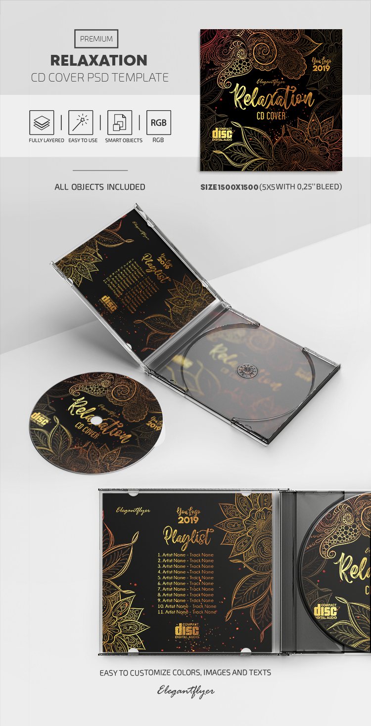 Relaxation – Premium CD Cover PSD Template
