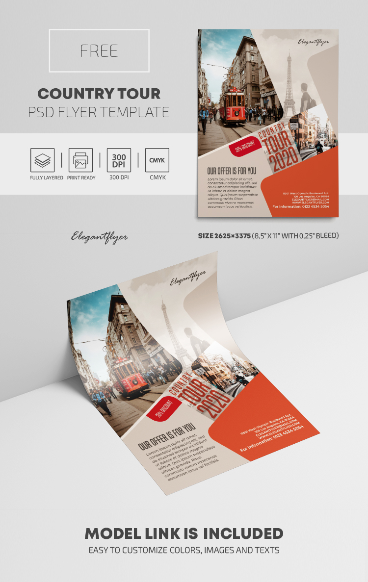 Country Tour – Free PSD Flyer Template