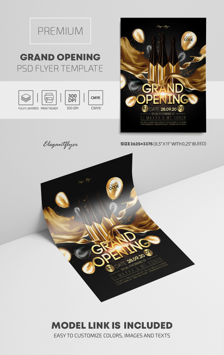Grand Opening – PSD Flyer Template