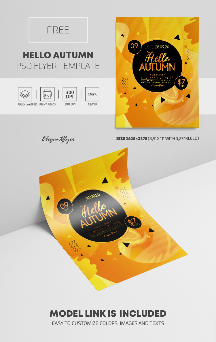 Hello Autumn – Free PSD Flyer Template