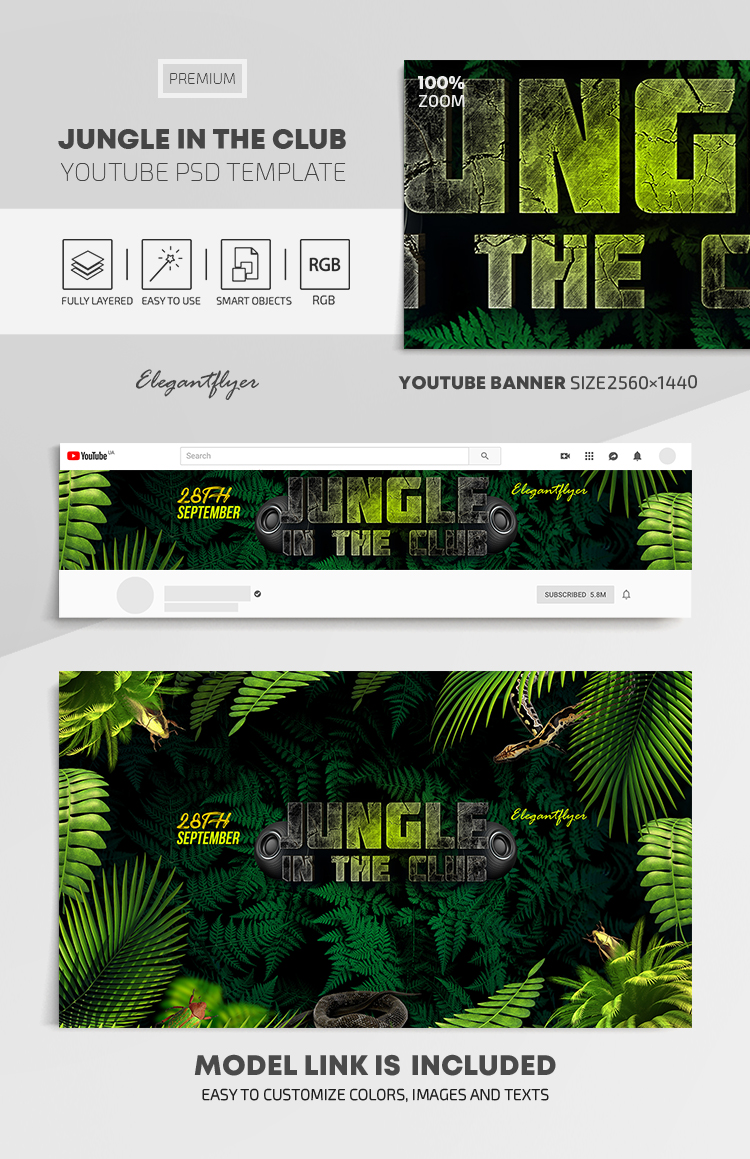 Jungle In The Club Youtube Channel Banner Psd Template By Elegantflyer Have a we heart it account? jungle in the club youtube channel banner psd template