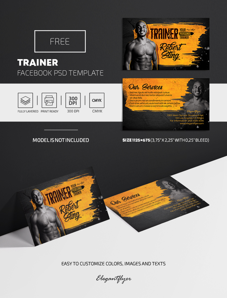 Trainer – Free PSD Business Card Template