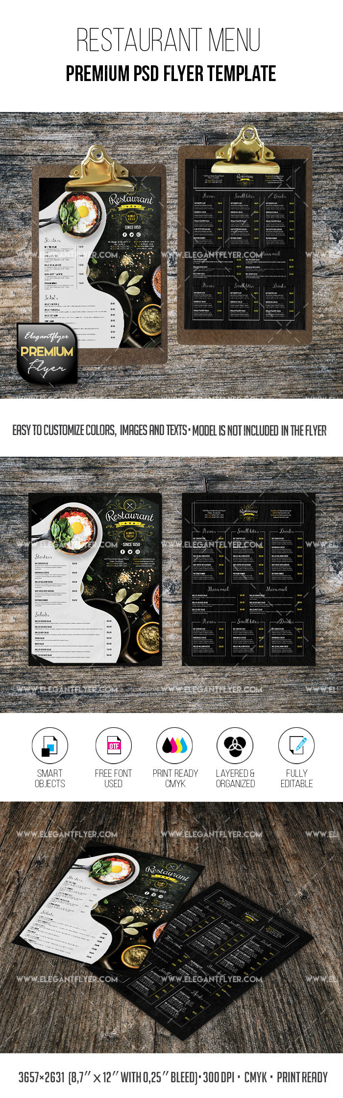 Restaurant Menu – Premium PSD Brochure Template