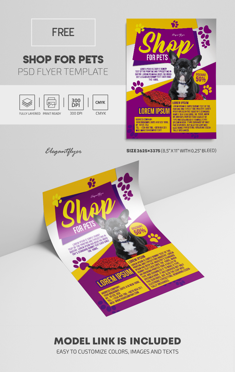 Shop for Pets – Free Flyer Template in PSD
