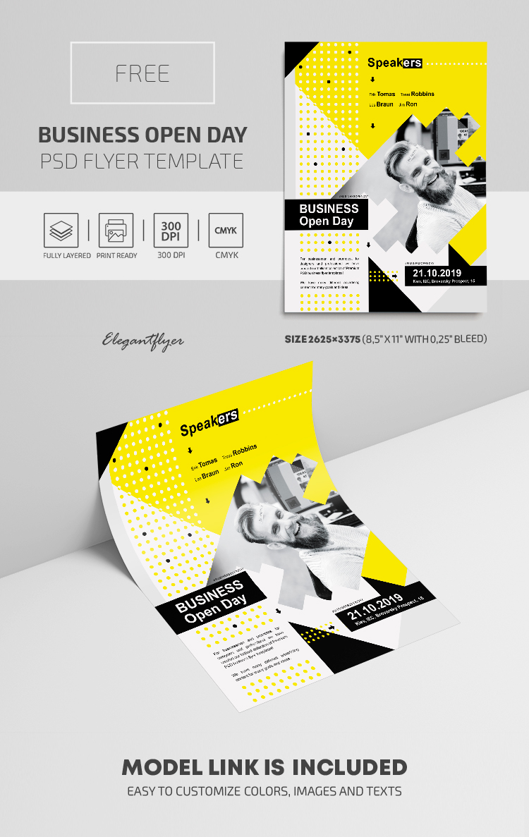 Business Open Day – Free PSD Flyer Template