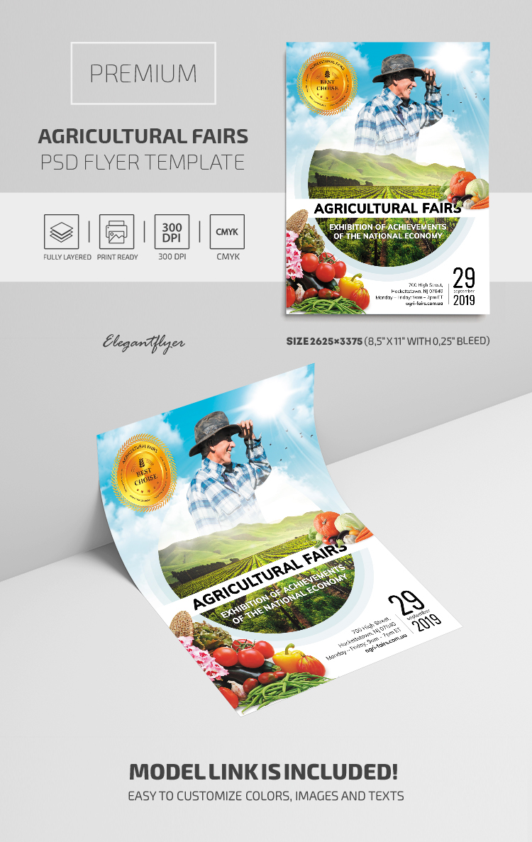Agricultural Fairs – Premium PSD Flyer Template