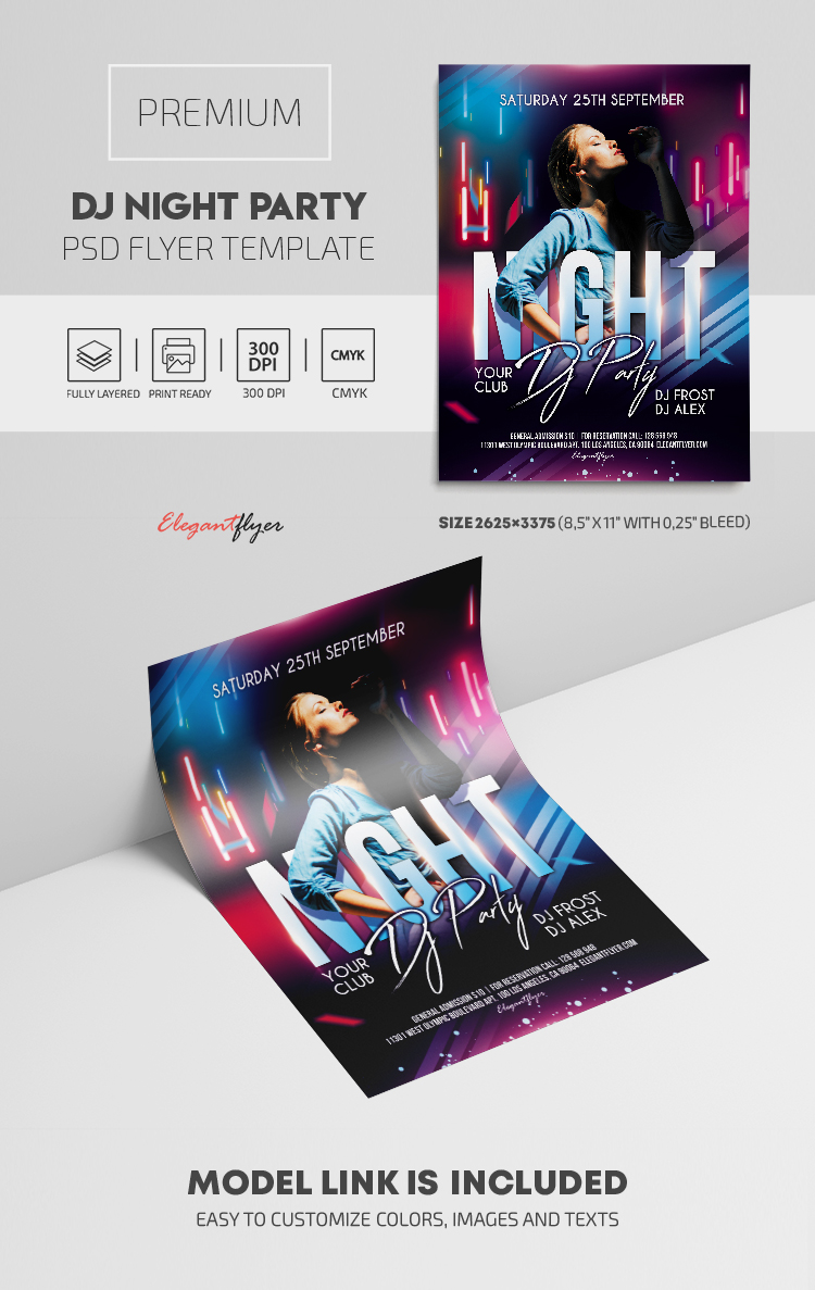 Dj Night Party – Premium PSD Flyer Template