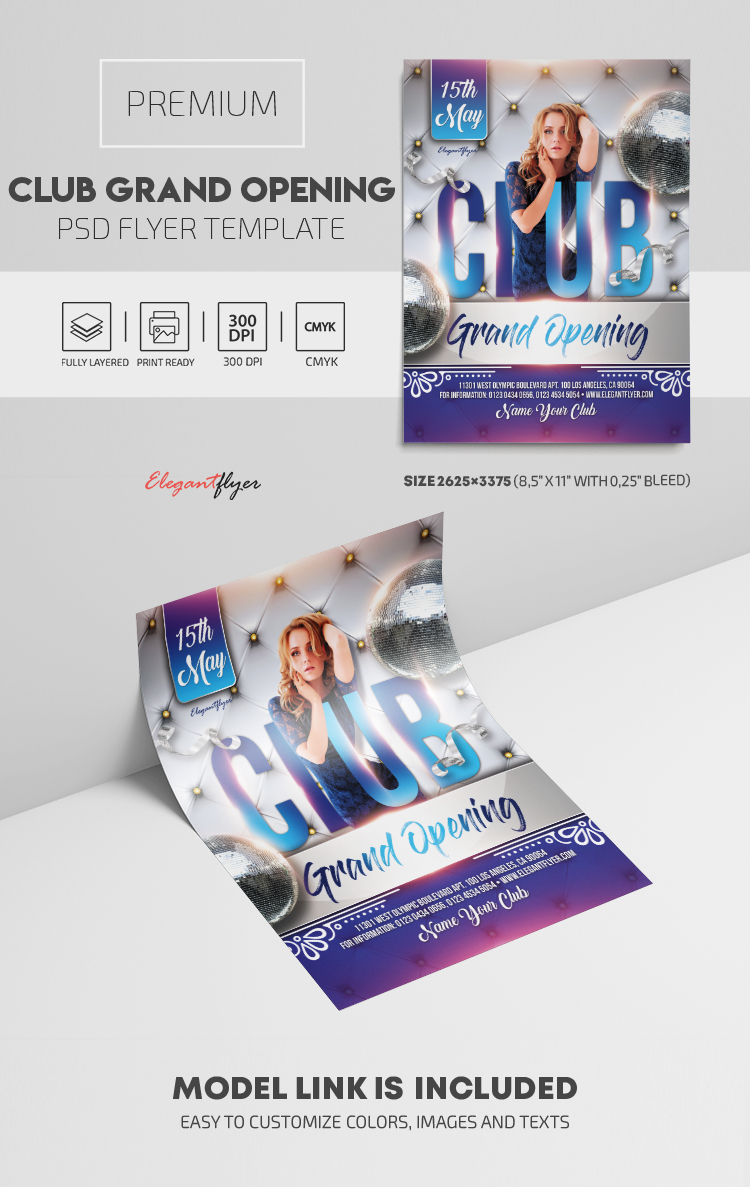 Club Grand Opening – Premium PSD Flyer Template