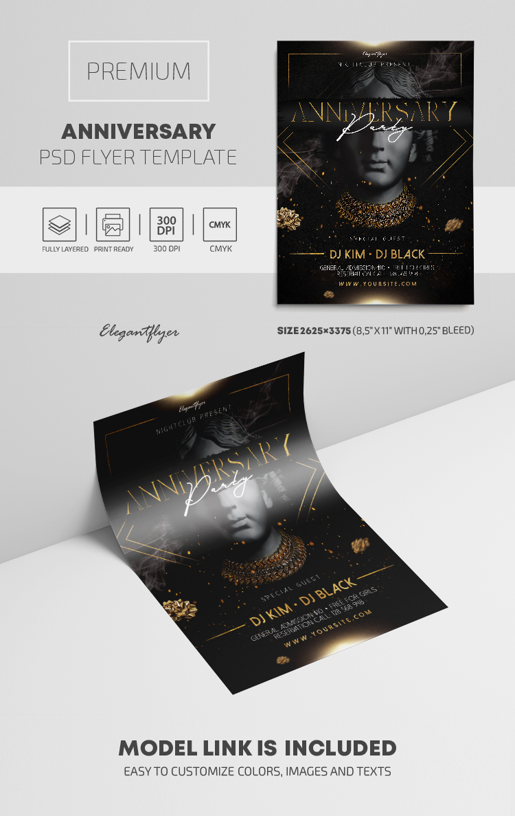 Anniversary Party – Premium PSD Flyer Template