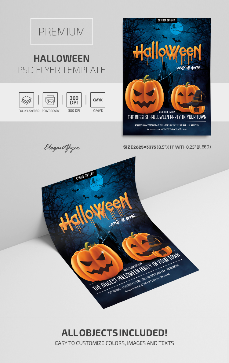 Halloween – PSD Flyer Template