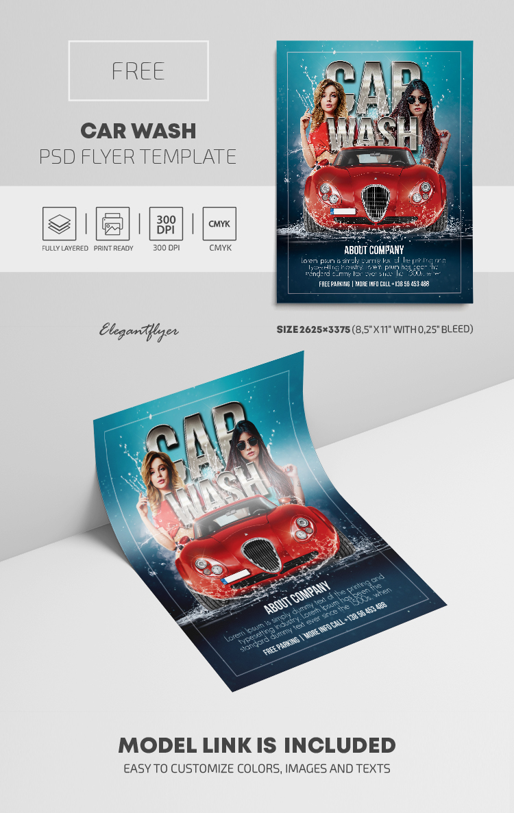 Car Wash – Free PSD Flyer Template