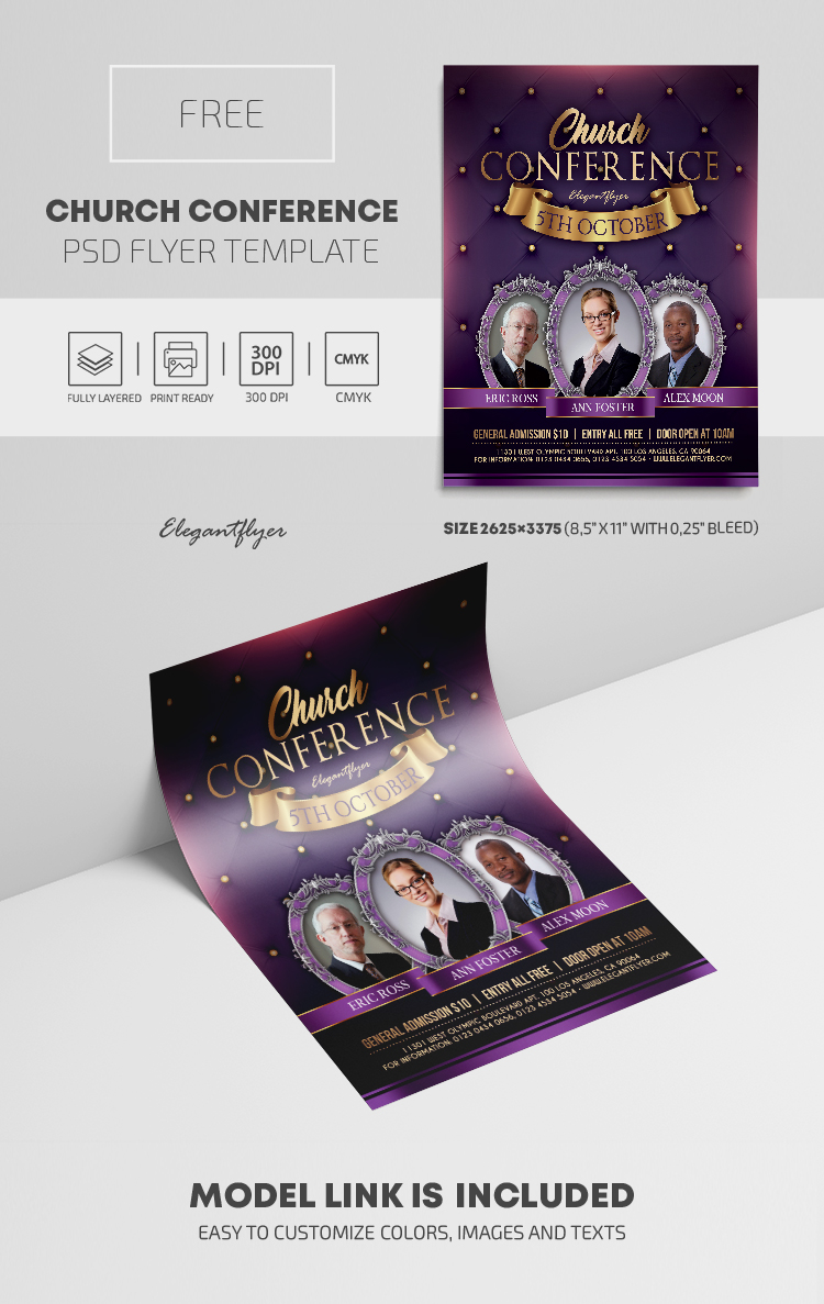 Church Conference – Free PSD Flyer Template