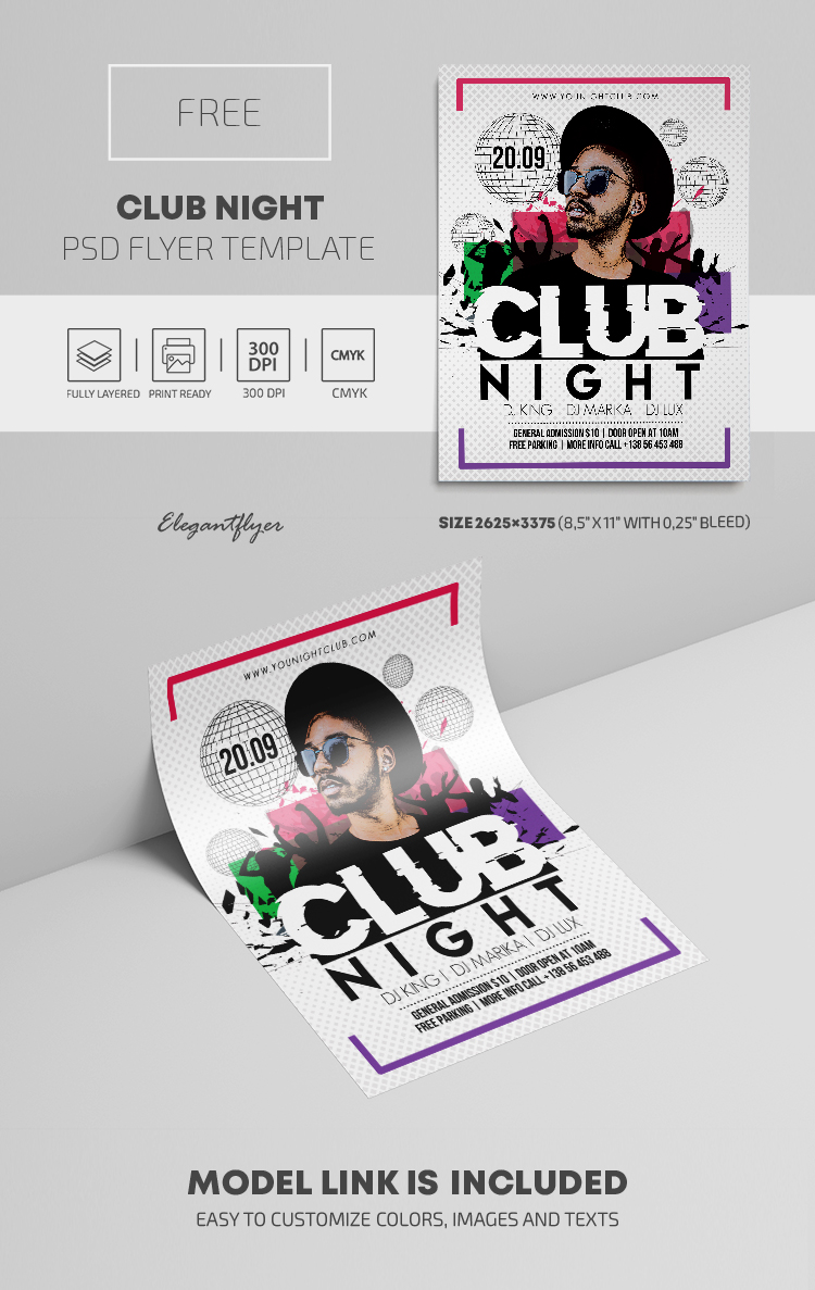 Club Night – Free PSD Flyer Template