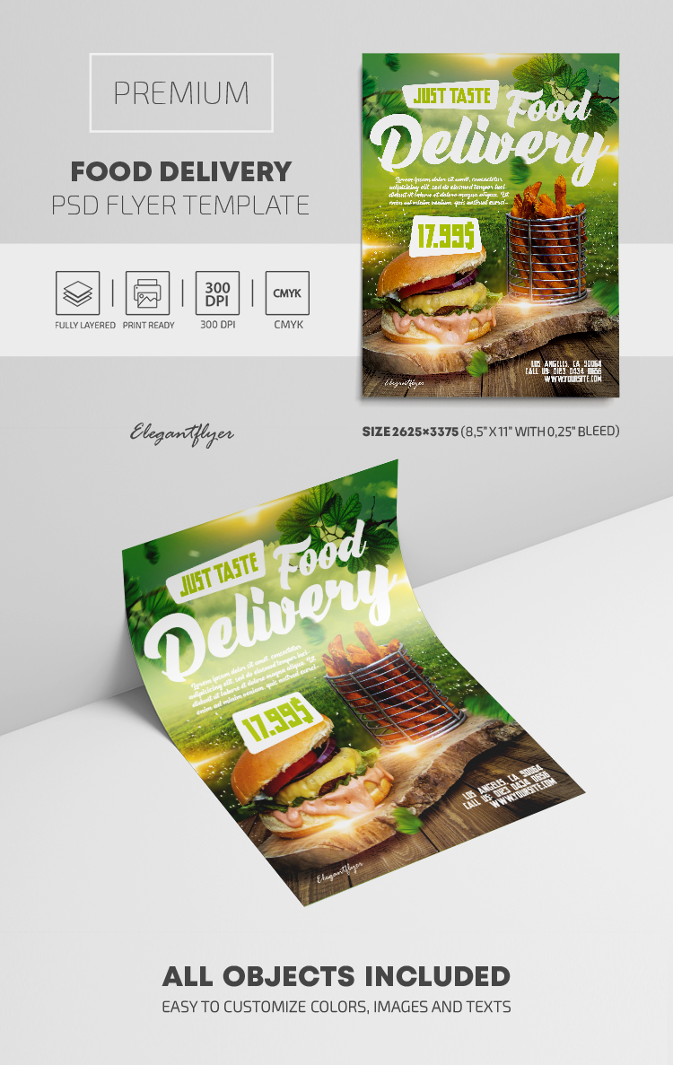 Food Delivery – Premium PSD Flyer Template
