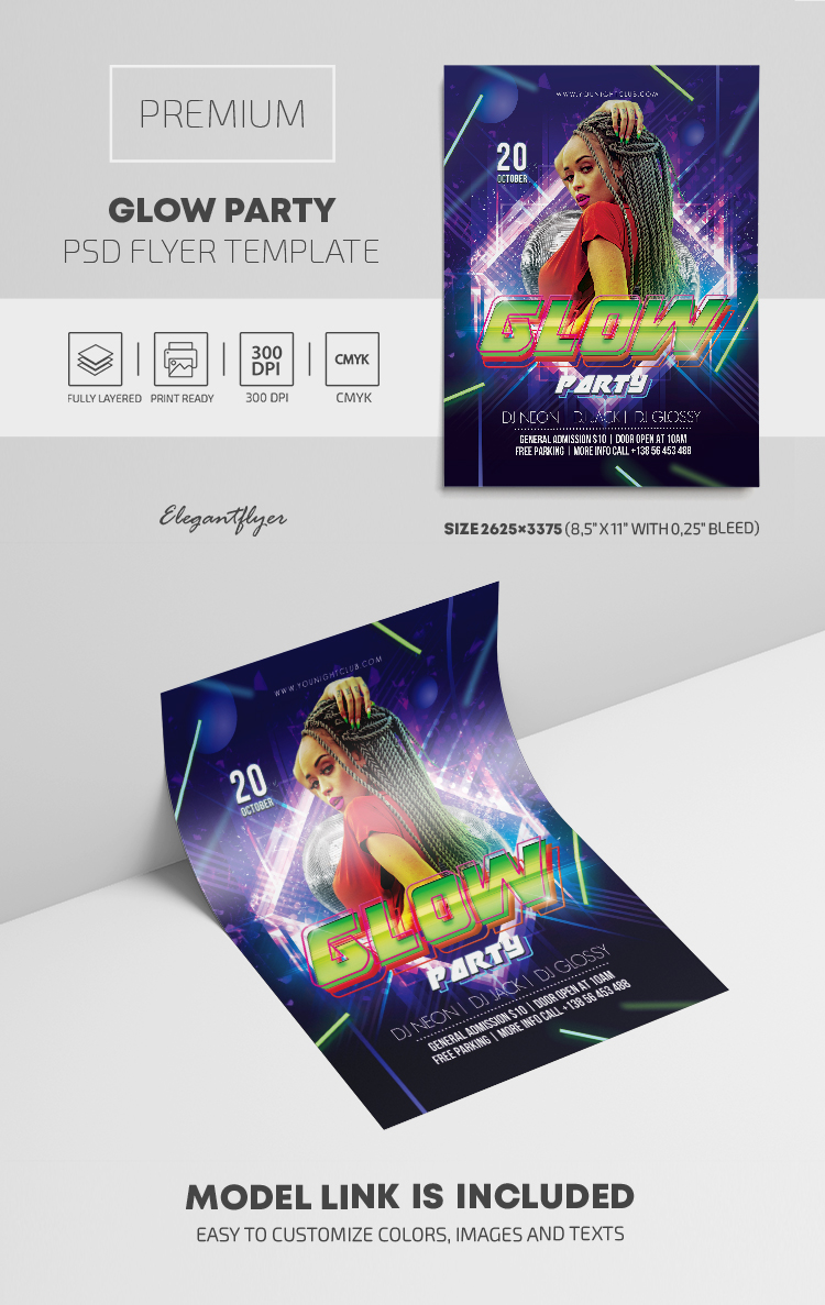 Glow Party – Premium PSD Flyer Template