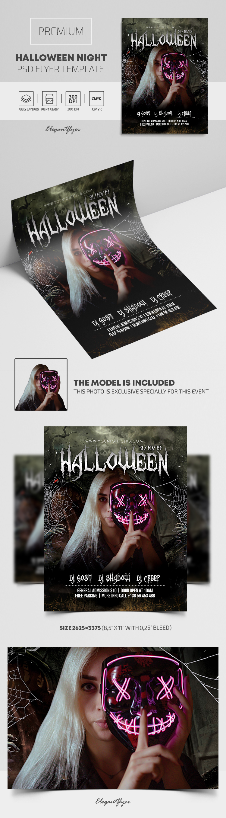 Halloween Night – Premium PSD Flyer Template