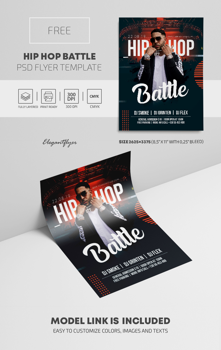 Hip Hop Battle – Free PSD Flyer Template
