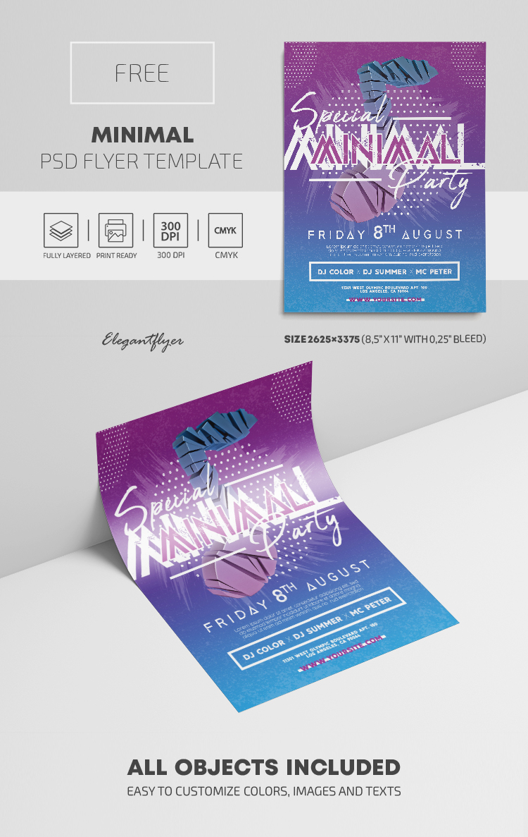 Minimal – Free PSD Flyer Template