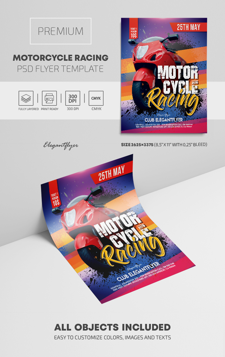 Motorcycle Racing – Premium PSD Flyer Template