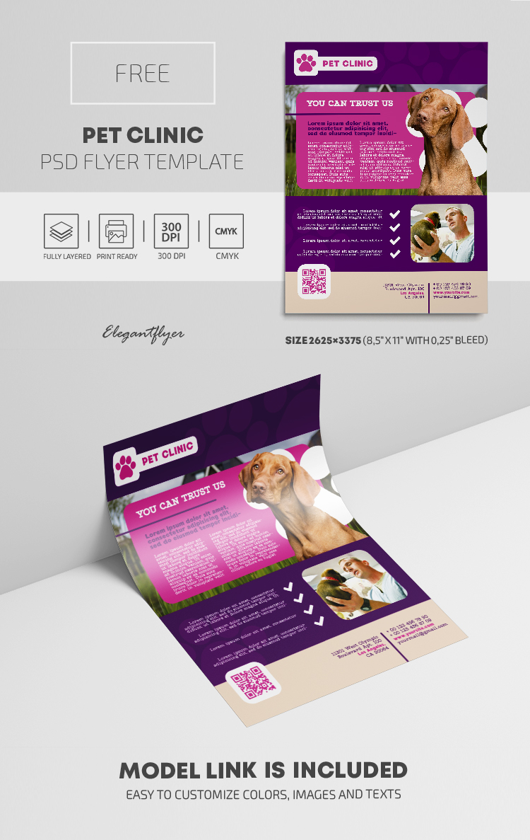 Pet Clinic – Free PSD Flyer Template