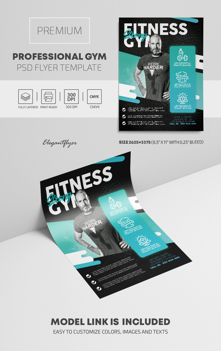 Professional GYM – Premium PSD Flyer Template