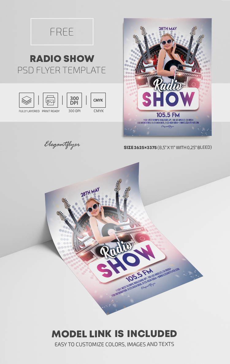 Radio Show – Free PSD Flyer Template
