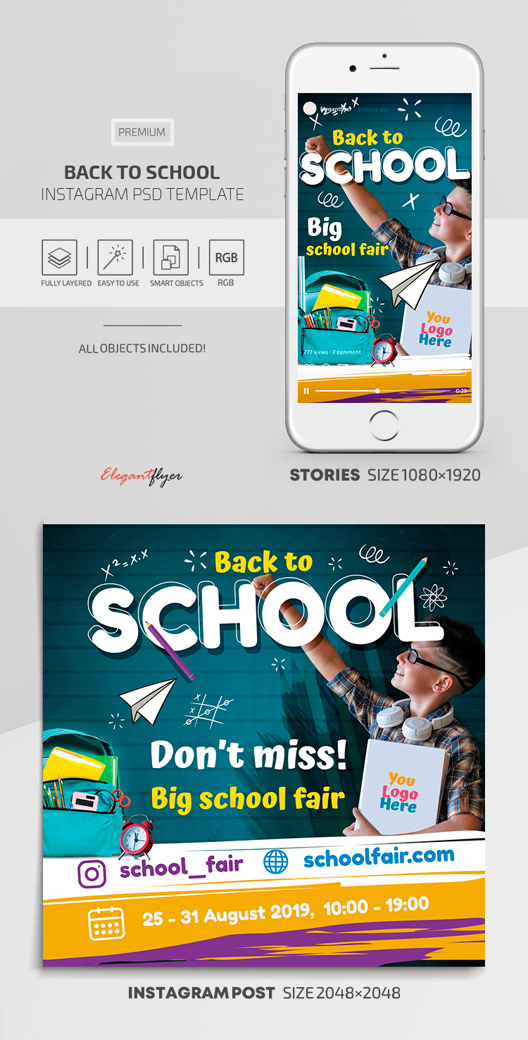 Back to School – Instagram Stories Template in PremiumPSD + Post Templates