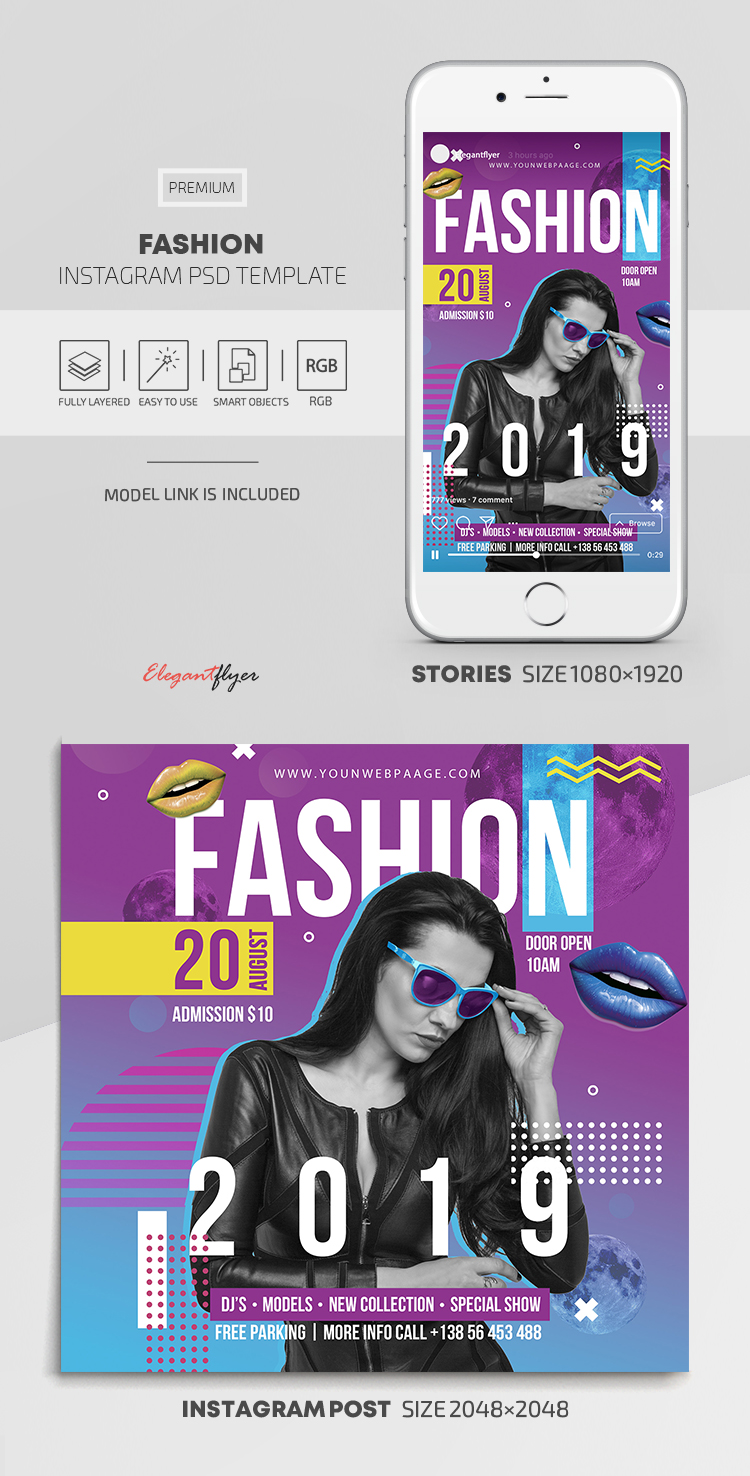 Fashion – Instagram Stories Template in PSD + Post Templates