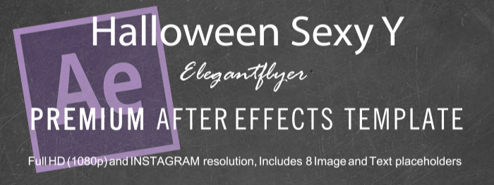 Halloween Sexy Y After Effects Template