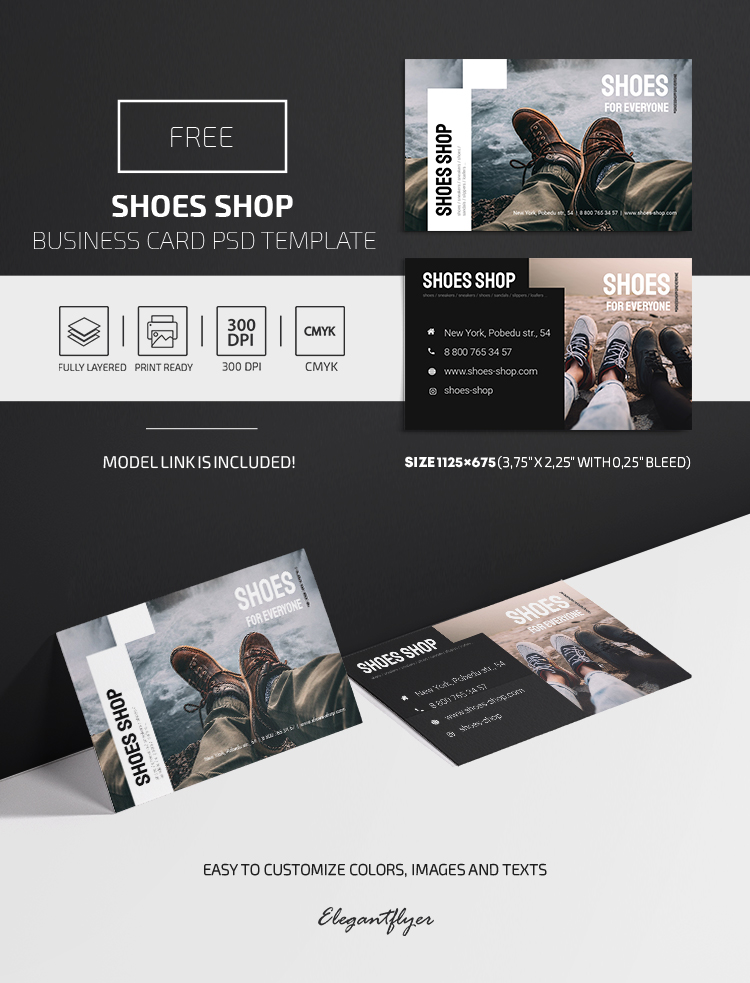 Shoes Shop – Free PSD Business Card Template