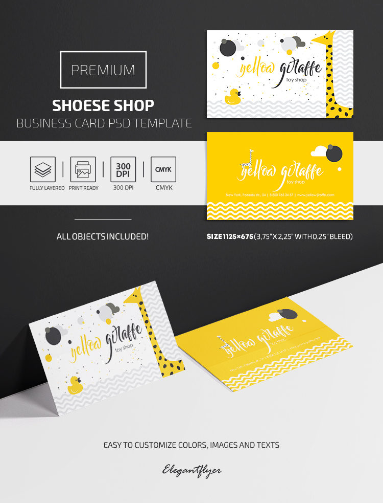 Toy Shop – Premium PSD Business Card Template