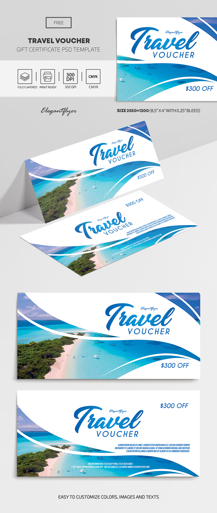 Travel Voucher – Free Gift Certificate Template