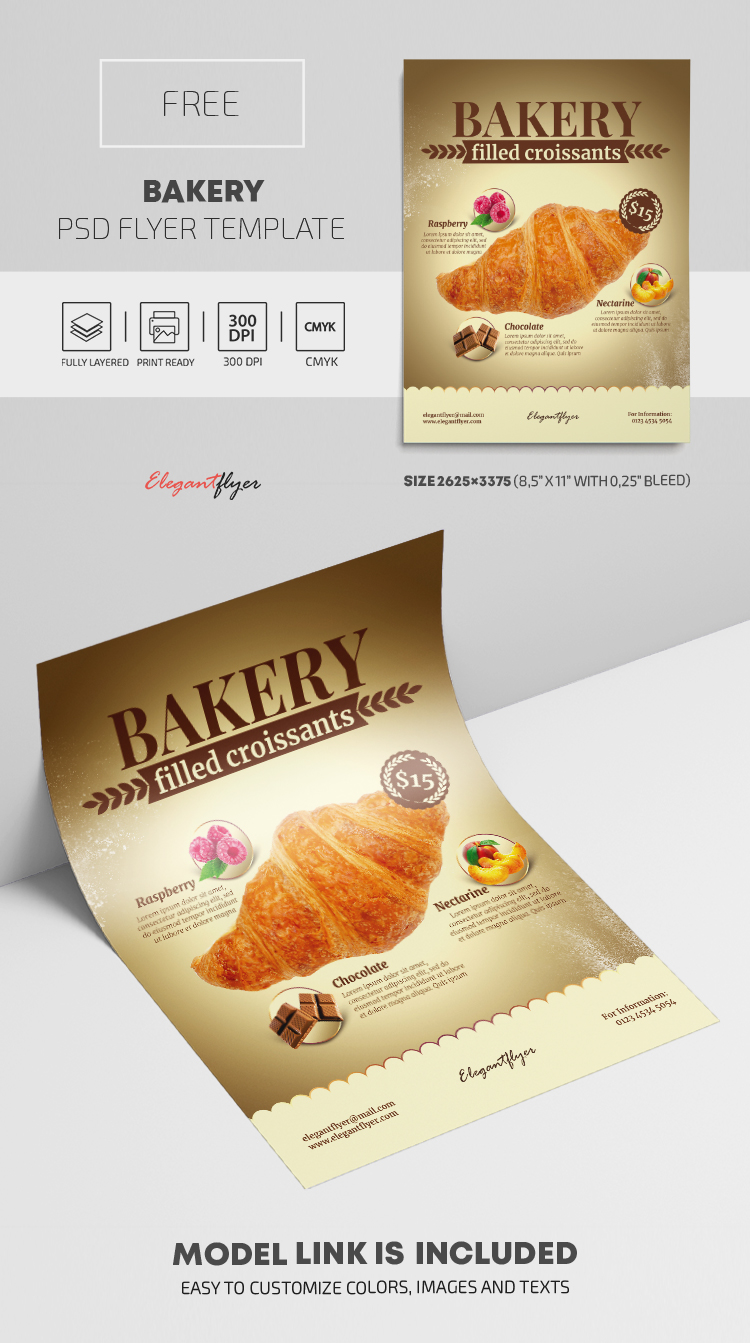 Bakery – Free PSD Flyer Template