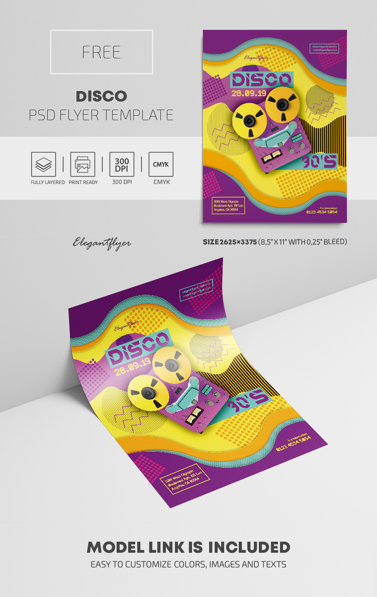 Disco – Free PSD Flyer Template