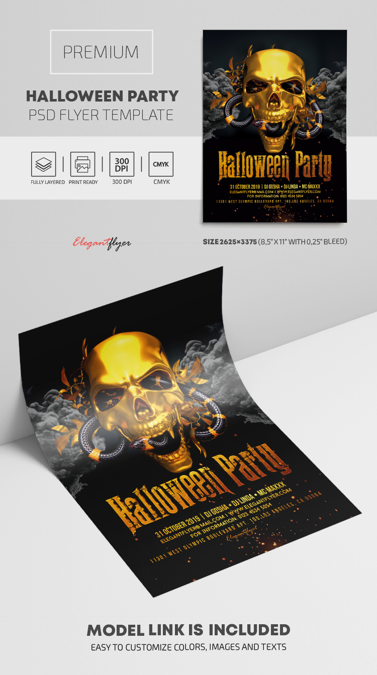 Halloween Party – PSD Flyer Template