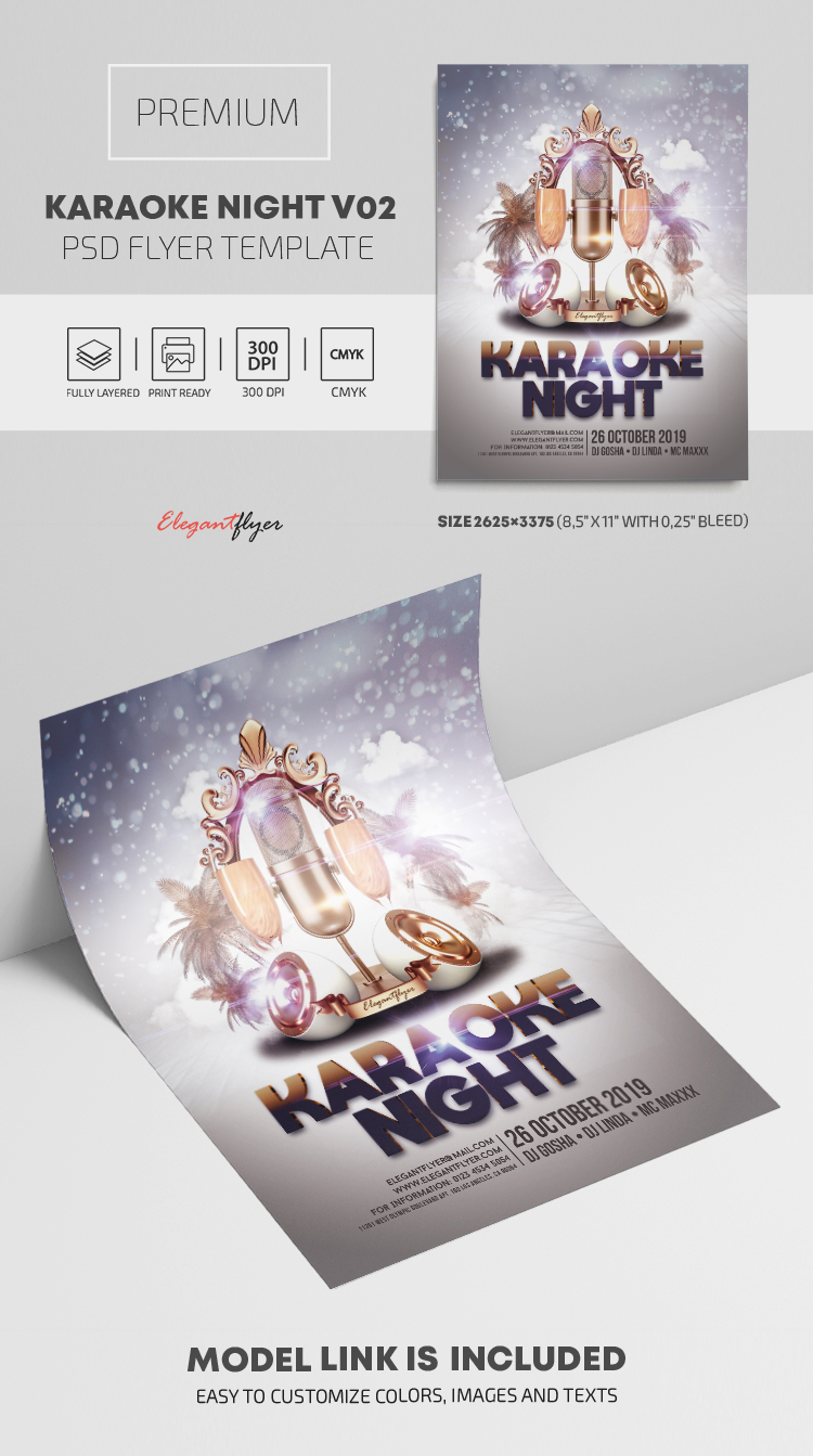 Karaoke Night – PSD Flyer Template