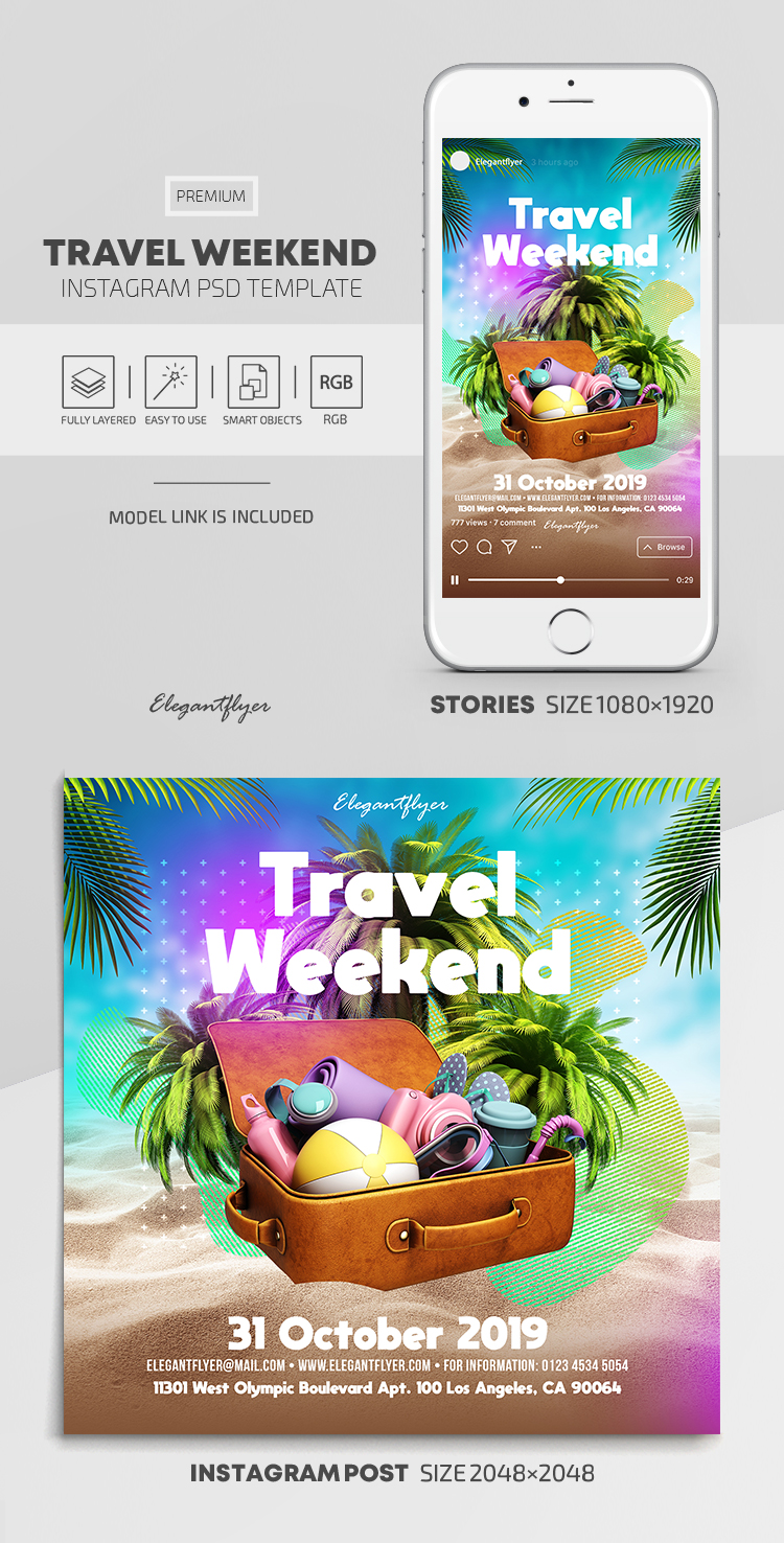 Weekends – Instagram Stories Template in PSD + Post Templates