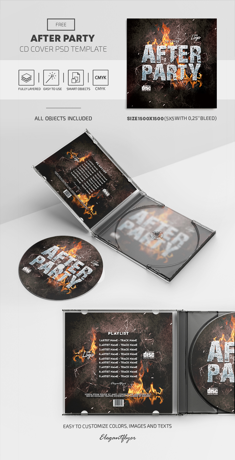 After Party – Free PSD CD Cover Template