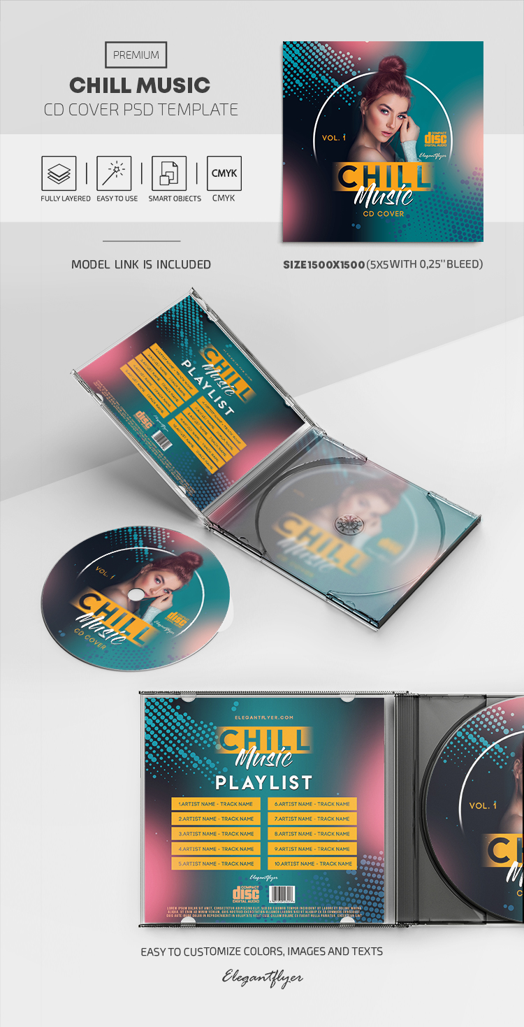Chill Music – Premium CD Cover PSD Template
