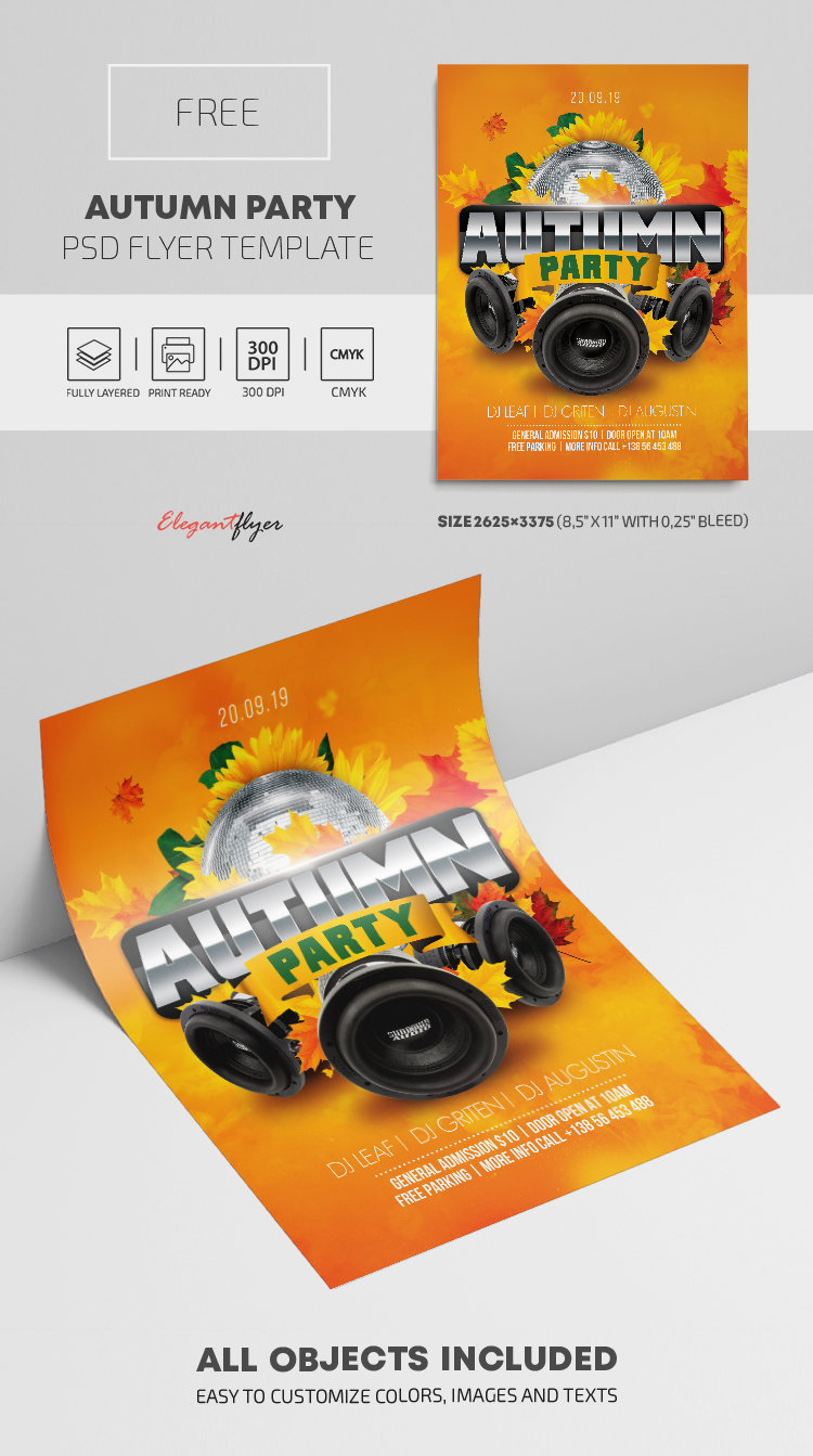 Autumn Party – Free PSD Flyer Template