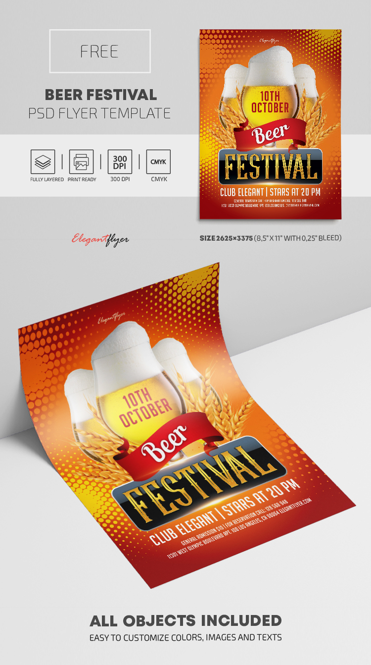 Beer Festival – Free PSD Flyer Template